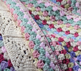 Pretty afghan crochet blanket