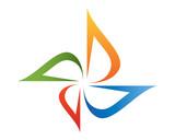 Pinwheel Logo Template