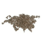 Map of Eurasia made of roasted coffee beans isolated poster