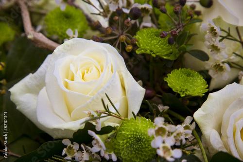 Staande foto Roses weiße Rose zum Abschied