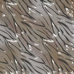 Tiger or zebra wild skin fur leather seamless pattern glassy eff