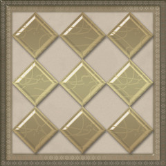 Geometrical pattern tile design background glass effect