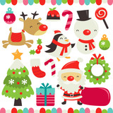 Retro Cute Christmas Set