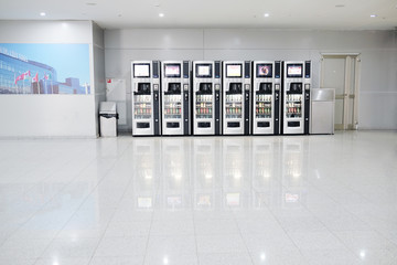 Vending machines with chocolates and cold drink