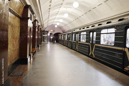 Sokolnicheskaya line - the first line of the Moscow metro. - 82104942