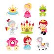 Obrazy na płótnie, fototapety, zdjęcia, fotoobrazy drukowane : Princesses Prince Knight Icons