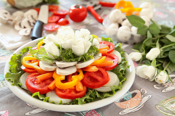 verdure fresche in cucina