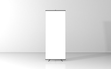 Blank roll up poster - vertical billboard for text