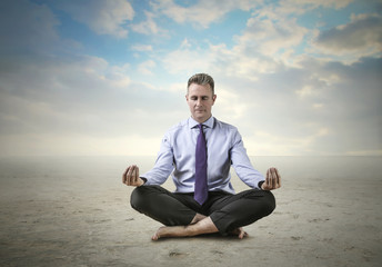 Meditating manager