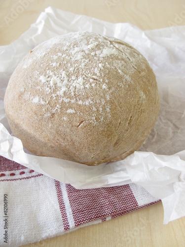 Poster Brood Selbst gebackenes Bauernbrot
