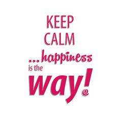 Happiness way card