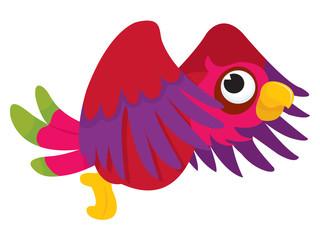 Cartoon Parrot Flying