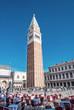 Quadro VENICE - APRIL 7, 2014: Tourists enjoy the city on a beautiful d