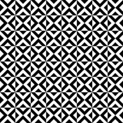 Retro Seamless Pattern Triangle Black/White