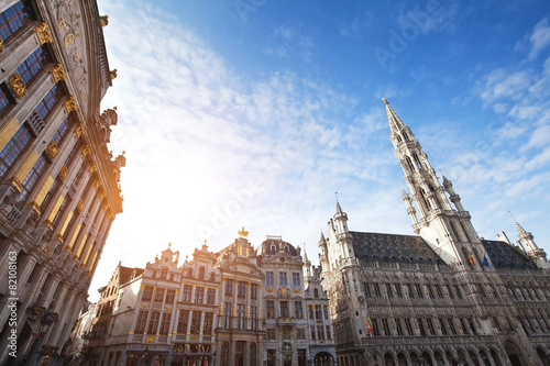 Fotobehang Brussel beautiful view of Brussels, Belgium