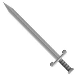 Medieval shield sword vector image