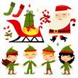 Christmas Santa Elves