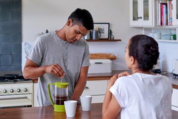 couple lifestyle kitchen