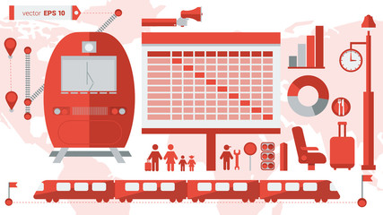 Train station infographic