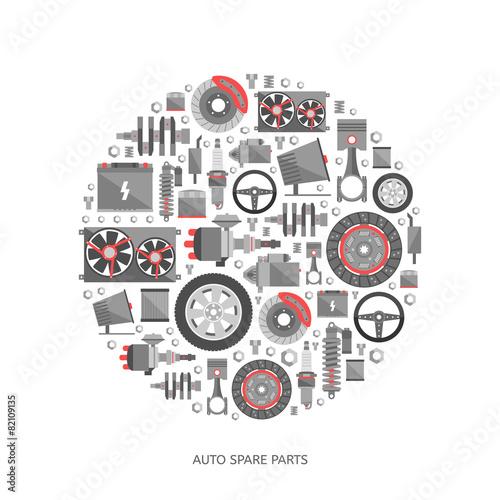 Set of auto spare parts - 82109135