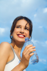 Woman With Mineral Water