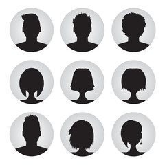 vector set of colorful user profile illustrations, icons. Man