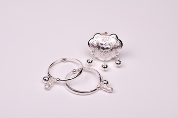 Silver Lock and Silver Bracelets