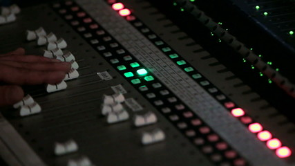 Changing Levels on a Sound Mixer
