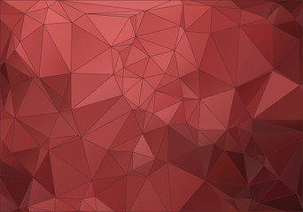 Vintage red abstract polygonal background for web
