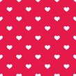 Tile vector pattern white hearts on pastel pink background