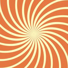 orange spiral vintage