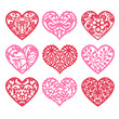 Lace Fretwork Hearts Set - 82111504