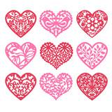 Lace Fretwork Hearts Set - 82111504