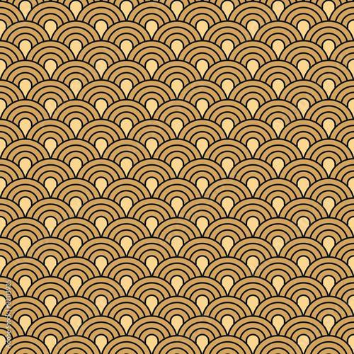 Fototapeta Art Deco seamless vintage wallpaper vector pattern