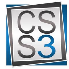 CSS 3 Blue Grey Block