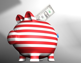 Stripes financial pig