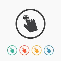 Cursor hand icon. Click sign