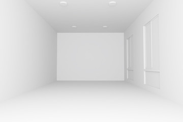 3D render of  interior empty room