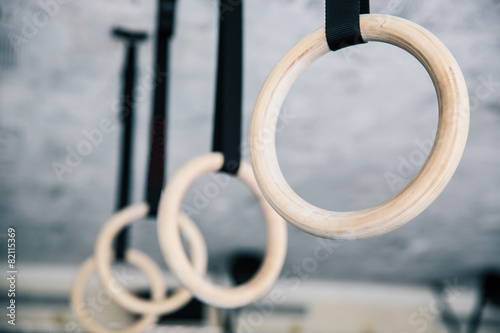 Closeup image of a fitness rings - 82115369