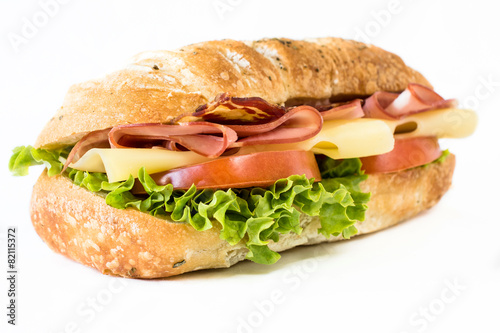 Foto op Canvas Klaar gerecht Close up to sandwich