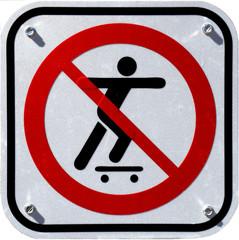 No skateboard sign