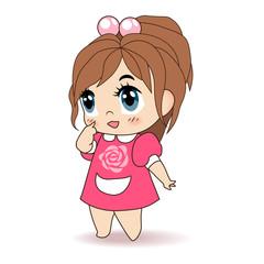 Little Girl, Children Vector Illustration
