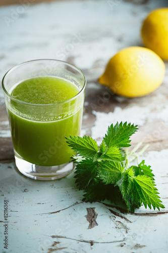 Nettle and Lemon Juice