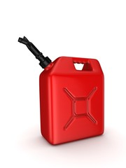Colorful gasoline jerrycan.