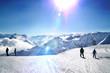 Skipiste Alpenpanorama morgens Gegenlicht Montafon Vorarlberg - 82118148