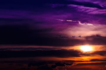 Dramatic sky. Dramatic sunset