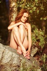Portrait of a nude elegant lady