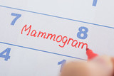 Hand With Mammogram Written On Calendar - 82119976