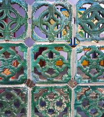 Screen of Glazed Ceramic Tiles