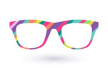 Colorful glasses frame icon simbol.